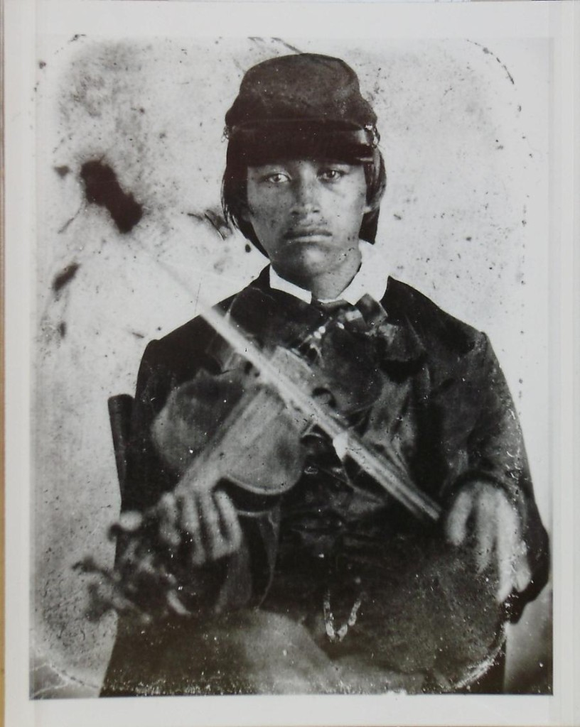 "William ""Chid"" Duverney., possiblity the youngest soldier in the North. (Photo courtesy Clarke Historical Library, Central Michigan University.)"